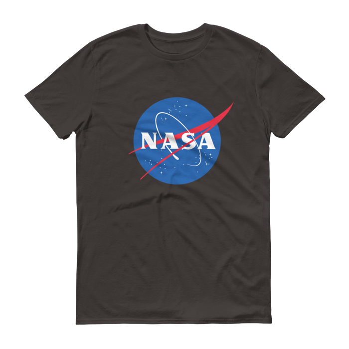 "NASA ""Meatball"" Logo Men's Short Sleeve T-shirt (Smoke)"