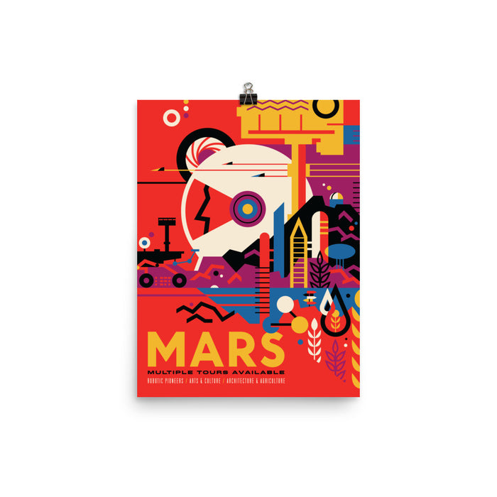 "NASA Travel Posters - ""The Historic Mars Sites"""