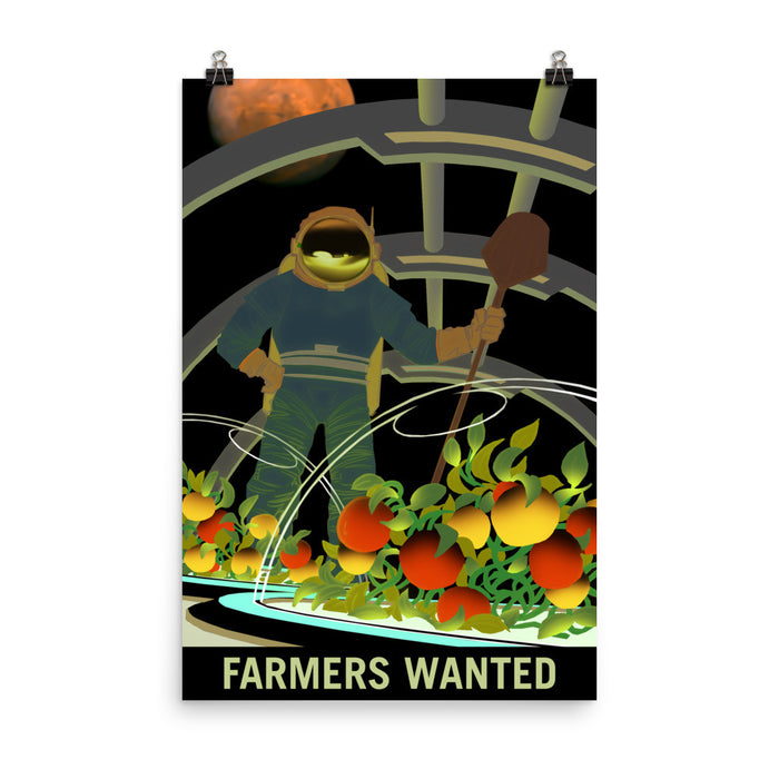 "NASA Mars Recruitment Poster - ""Farmers Wanted"""