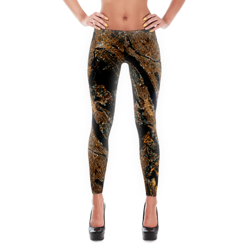Space Print Leggings - Manhattan from Space