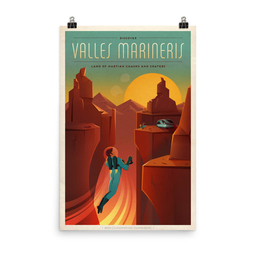 SpaceX Travel Posters - Travel to Mars; Olympus Mons