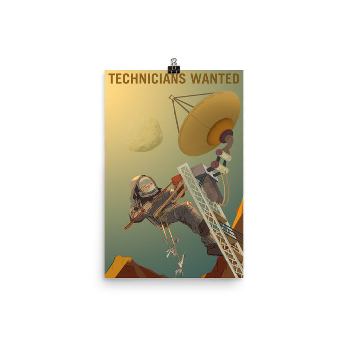 "NASA Mars Recruitment Poster - ""Technicians Wanted"""