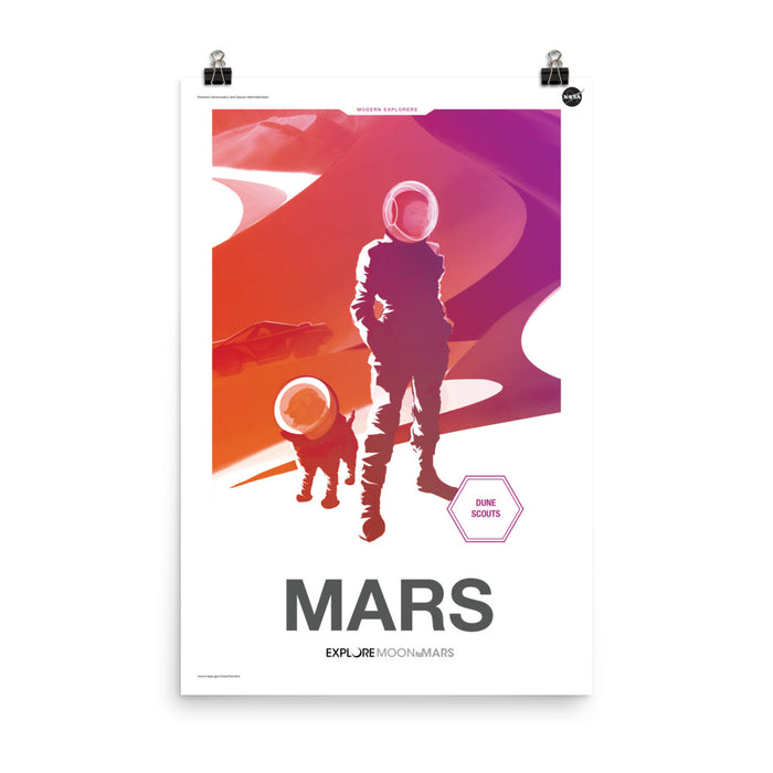 "NASA JPL ""Moon to Mars"" Poster - Mars"