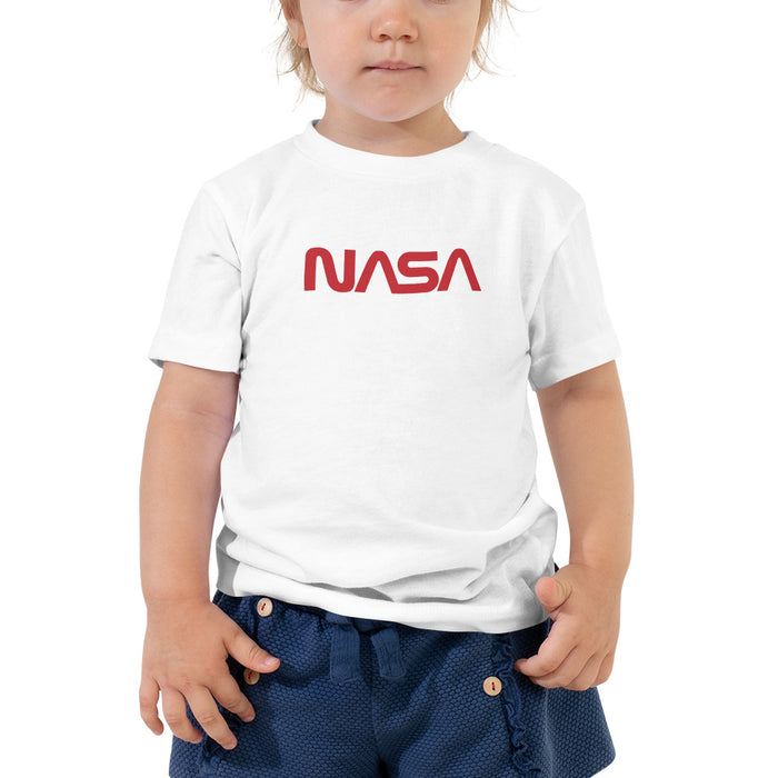 "NASA ""Worm"" Logo Vintage Kid's T-Shirt (White)"