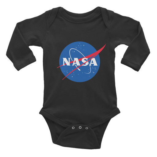 "NASA ""Meatball Logo Onesie - Infant Long Sleeve Bodysuit"