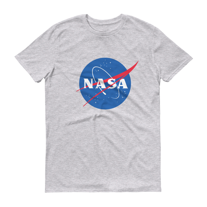 "NASA ""Meatball"" Logo Men's Short Sleeve T-shirt (Heather Gray)"