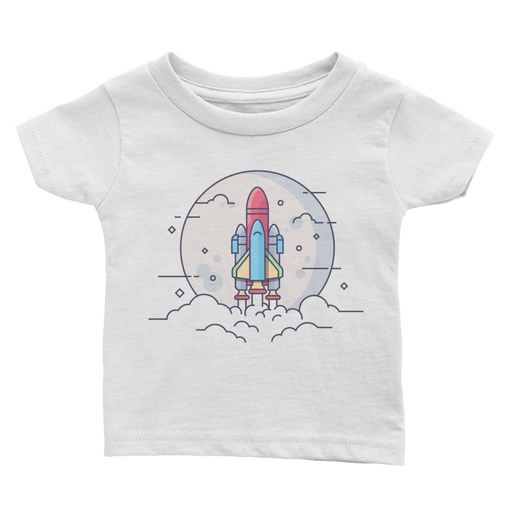 Shuttle Launch Illustration - Infant T-Shirt (White)