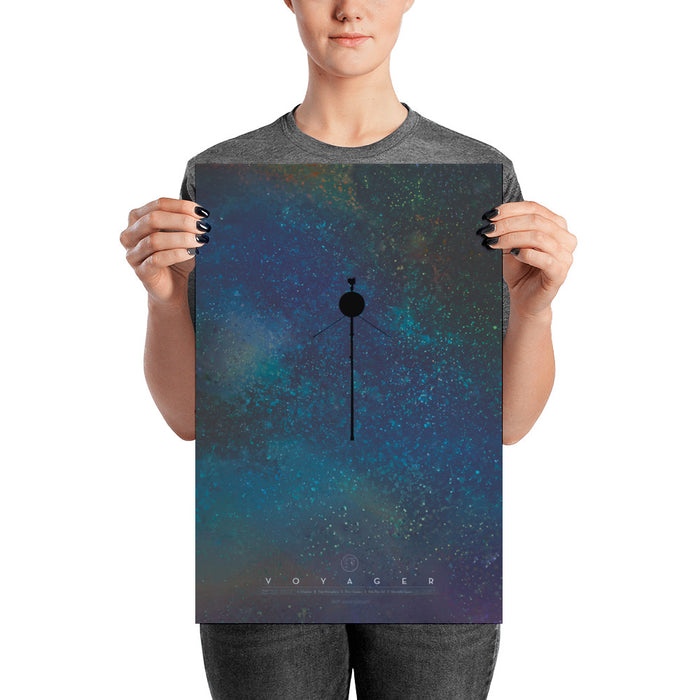 "NASA JPL Voyager Art Print - ""The Voyagers: Reaching for the Stars"""
