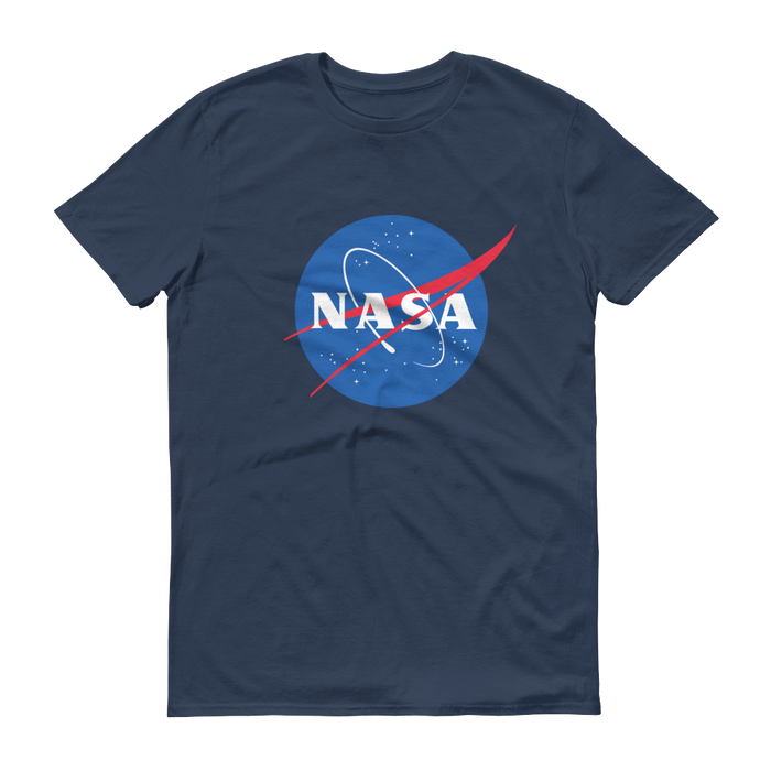 "NASA ""Meatball"" Logo Men's Short Sleeve T-shirt (Lake)"