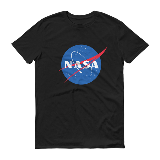 "NASA ""Meatball"" Logo Men's Short Sleeve T-shirt (Black)"