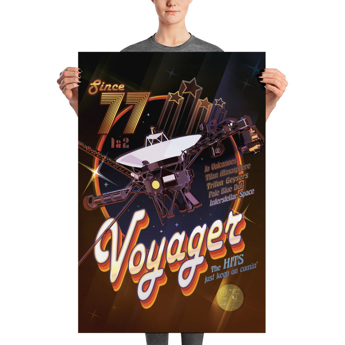 "NASA JPL Voyager Art Print - ""The Voyagers Rock On"""