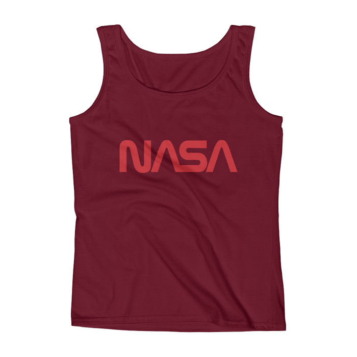 "NASA ""Worm"" Logo Ladies' Tank"