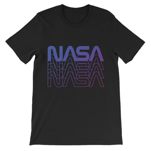 "Vintage NASA ""Worm"" Logo 80's Retro Tee (Black/Purple)"