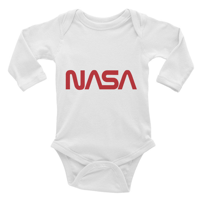 "NASA ""Worm"" Logo Onesie - Infant Long Sleeve Bodysuit"