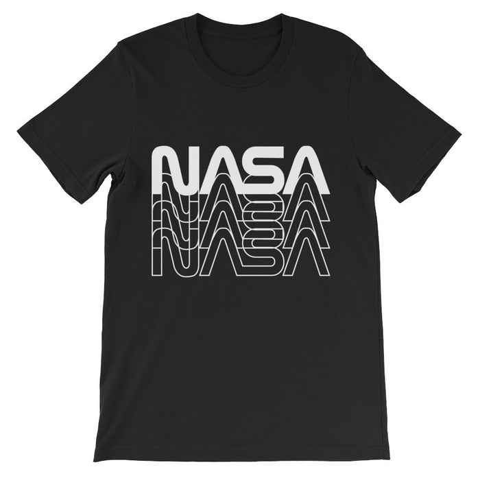 "Vintage NASA ""Worm"" Logo 80's Retro Tee (Black/White)"