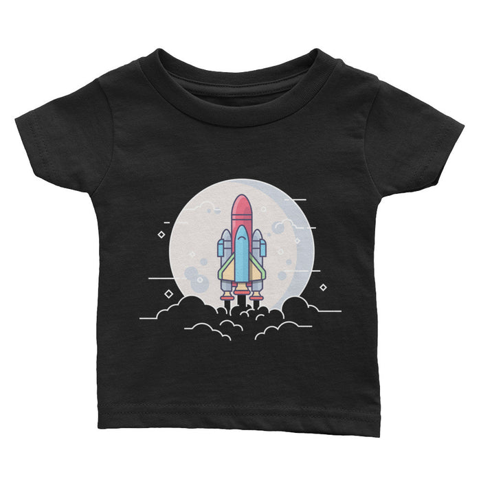 Shuttle Launch Illustration - Infant T-Shirt (Black)