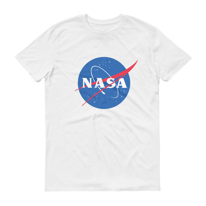 "NASA ""Meatball"" Logo Men's Short Sleeve T-shirt (White)"
