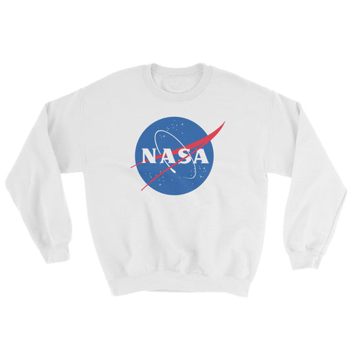 NASA Meatball Logo - Unisex Crew Neck Sweatshirt (White)
