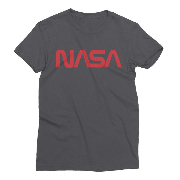 "Vintage NASA ""Worm"" Logo - Women's Short Sleeve T-Shirt (Heather Grey)"