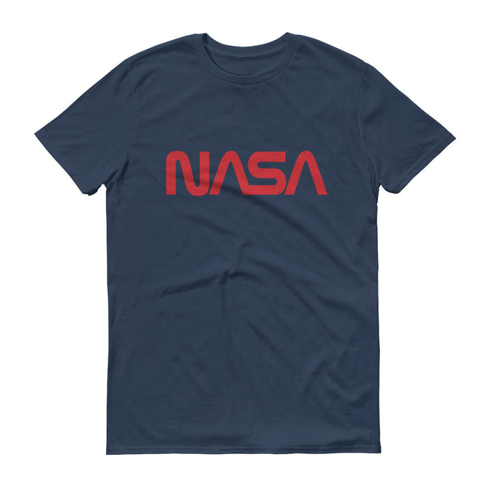 "NASA ""Worm"" Logo Men's Short Sleeve T-shirt (Lake)"
