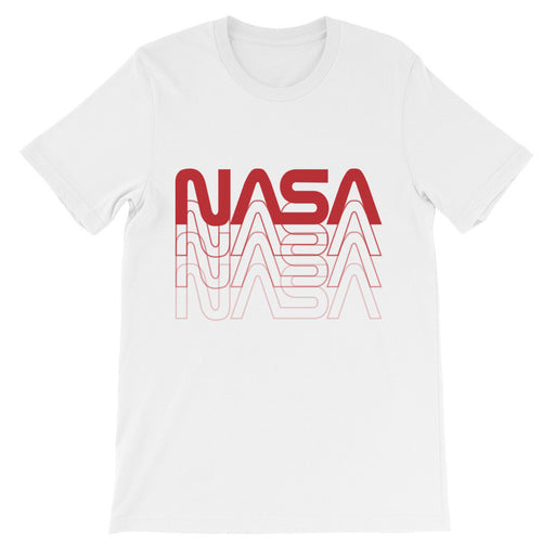 "Vintage NASA ""Worm"" Logo 80's Retro Tee (White)"