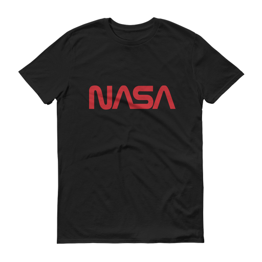 "NASA ""Worm"" Logo Men's Short Sleeve T-shirt (Black)"