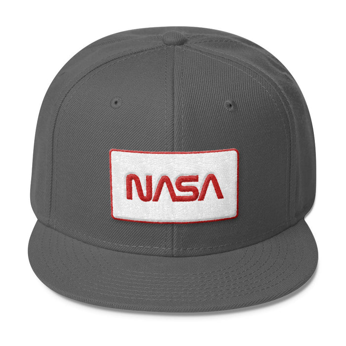 "NASA ""Worm"" Logo Patch - Wool Blend Snapback Hat"