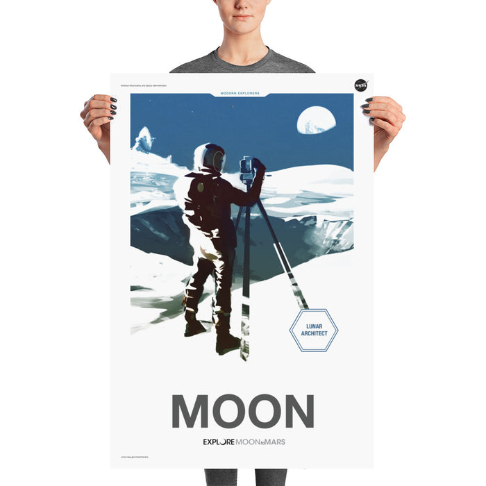 "NASA JPL ""Moon to Mars"" Poster - Moon"