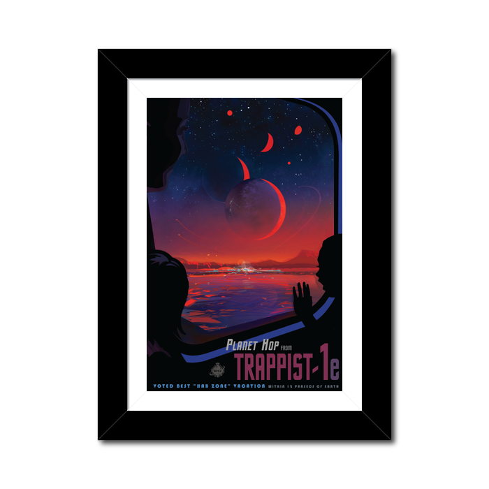 "NASA Travel Posters - The Exoplanets ""Trappist-1"""