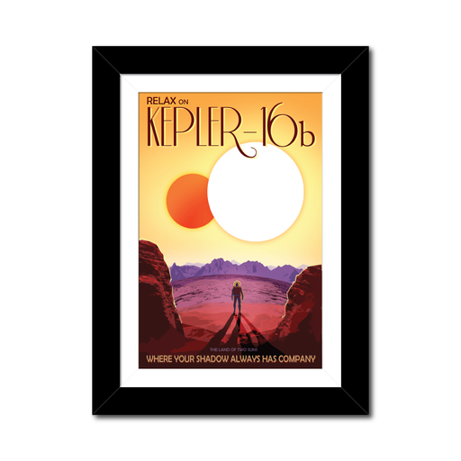 "NASA Travel Posters - The Exoplanets ""Two Shadows"""