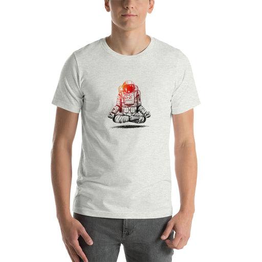 Astronaut Meditating - Men's Short-Sleeve Unisex T-Shirt