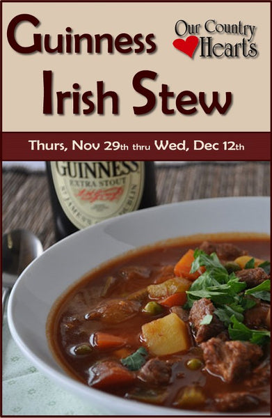 Guinness Irish Stew at Our County Hearts, November 29 - December 12, 2018