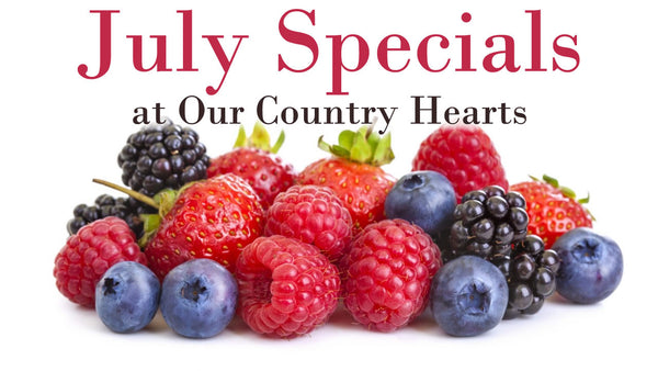 Berry Desserts in July at Our Country Hearts