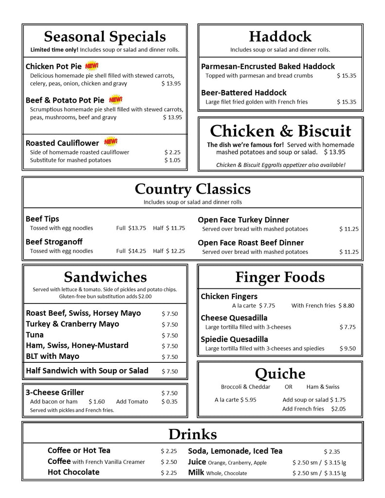January 2021 Lunch & Dinner Page 2