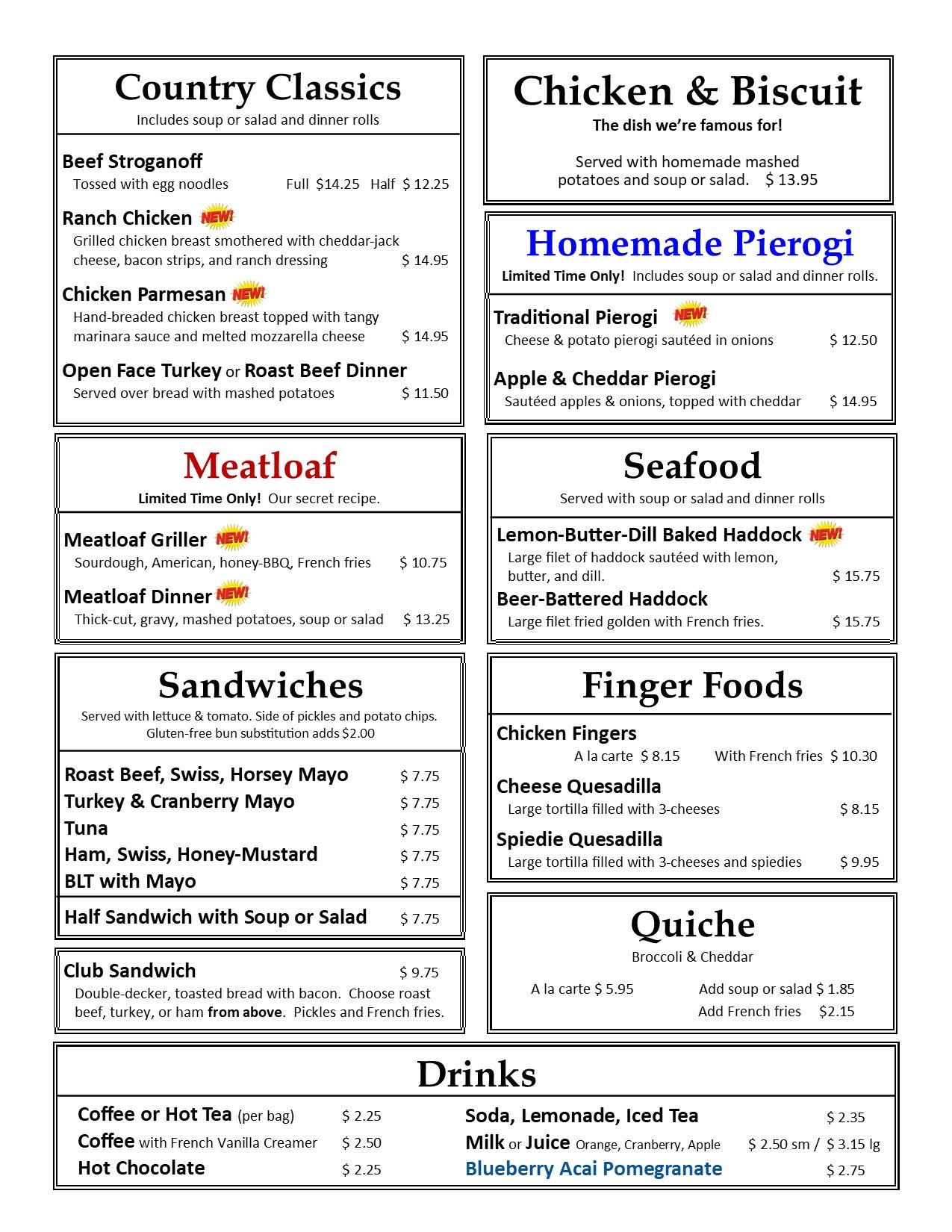 September Lunch & Dinner Page 2