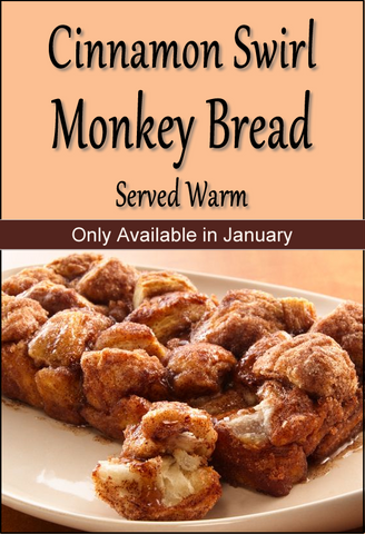 January 2021 Cinnamon Swirl Monkey Bread