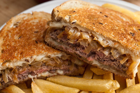 Our Country Hearts Patty Melt Burger