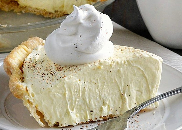 Homemade Eggnog Pie at Our Country Hearts, Only in December 2018