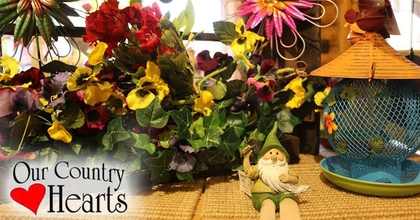 Srping Garden Items at the Our Country Hearts Gift Store