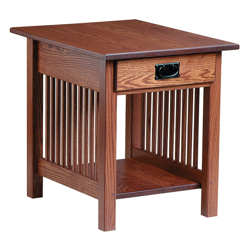 Mission End Table with Drawer (V16 #60)