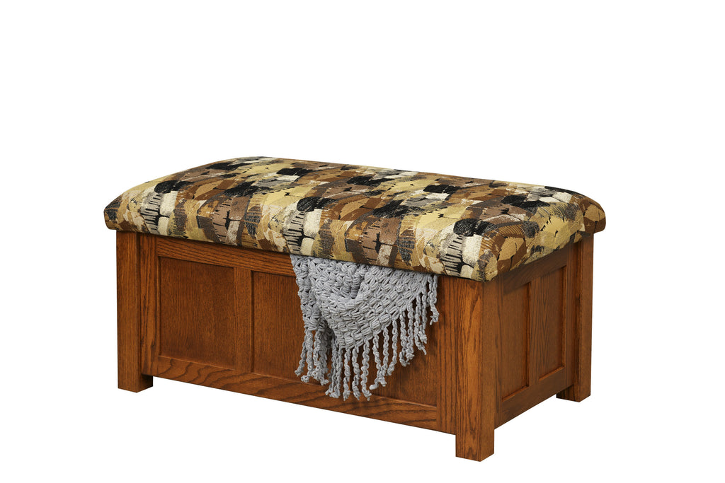 Mission Panel Storage Ottoman (Elmwood #226)