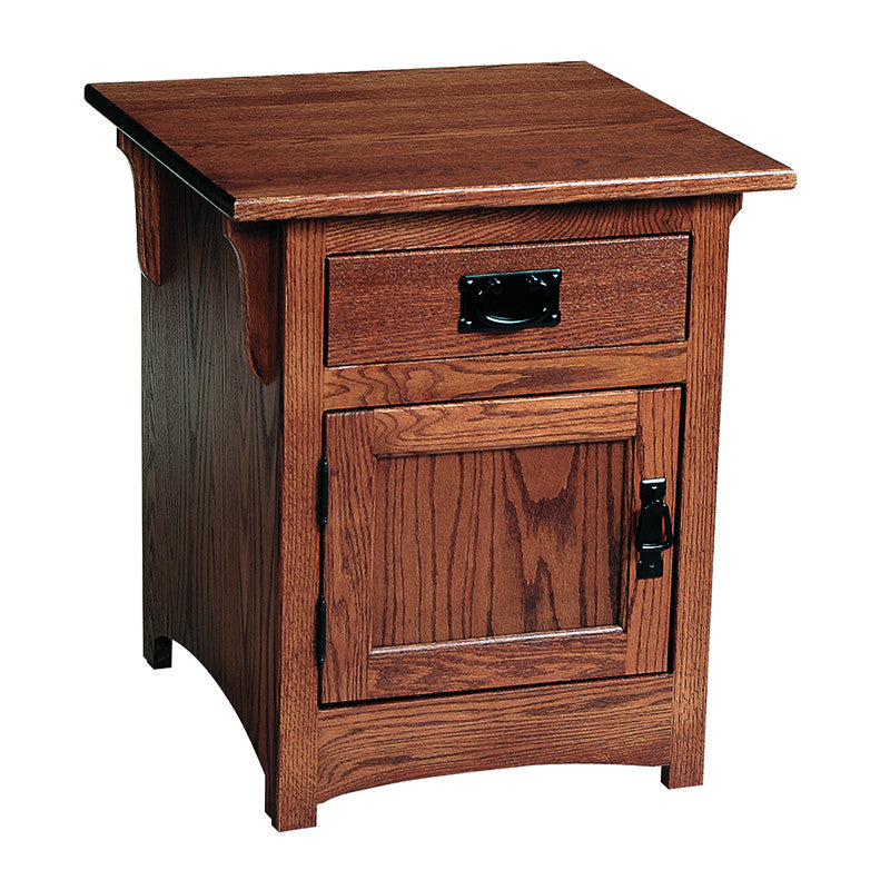 Mission Cabinet End Table with Door & Drawer (V16 #102)