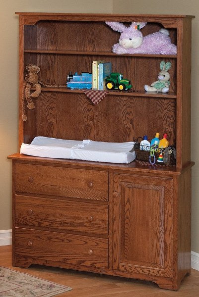 Shaker Changing Dresser & Hutch Top (FQP #105 SH & #109SH)