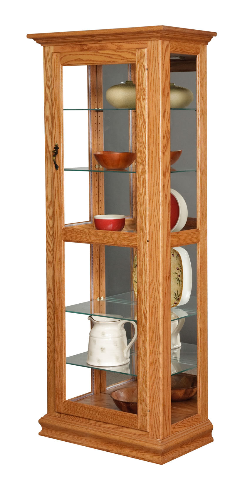 Curio Cabinet with Mirror (Mt Pleasant #1401)