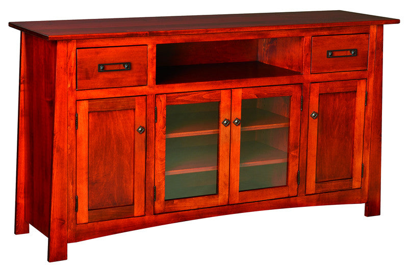 Craftsman 4 Door Entertainment Credenza (V16 #148)