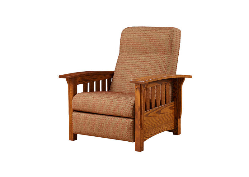 Mission Reclining Chair in Fabric with Wide Slats (Elmwood #161)