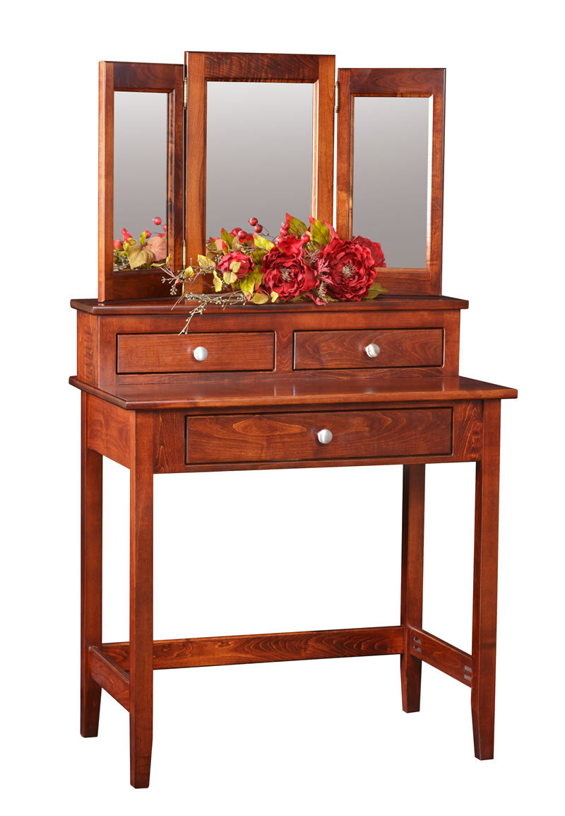 Small/Low Vanity Table with Mirror (Mt Pleasant #1801)