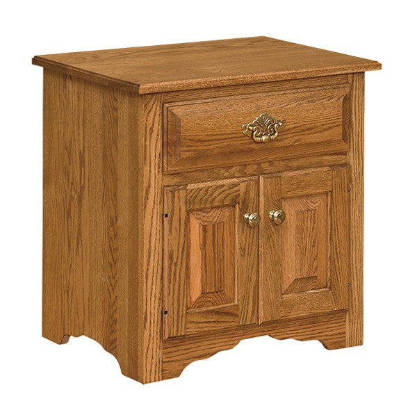Traditional Eden-Style 1-Drawer and 2-Door Nightstand (OCH #1-E)