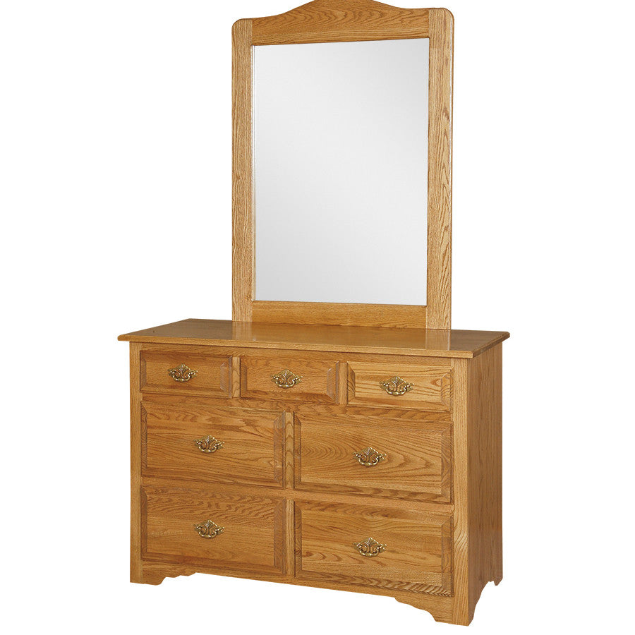 Traditional Eden-Style Single Dresser with Mirror (OCH #4-E + #7)