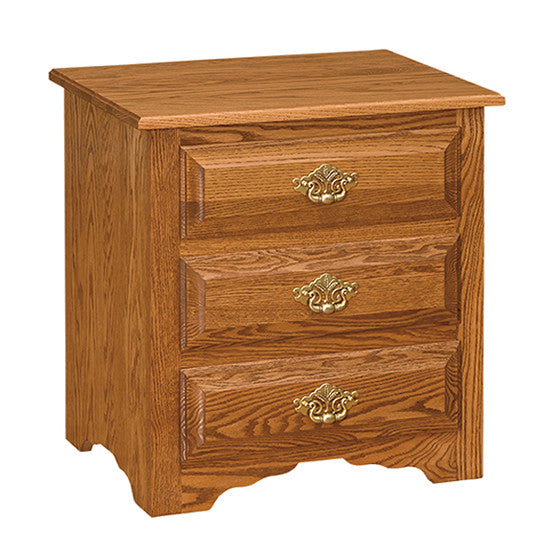 Traditional Eden-Style 3-Drawer Nightstand (OCH #6-E)
